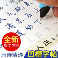 紫林轩硬笔字贴成人学生写字凹槽练字板儿童魔幻练字帖钢笔练字套装行楷正楷书 楷书基础篇