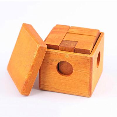 成人儿童拼图益智玩具 伤脑筋十三块 二十一根灵感棒 立方体积木盒