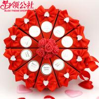 白领公社  糖果盒 婚庆用品喜糖盒子个性创意欧式中式蛋糕喜糖包装袋结婚礼满月喜糖盒糖果袋子