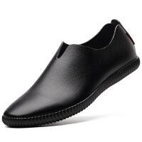 格罗堡春季新款英伦男士时尚驾车休闲鞋一脚蹬套脚懒人鞋休闲皮鞋男