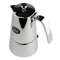 Tiamo原装不锈钢摩卡壶 意式家用煮咖啡壶 4人份 HA1583