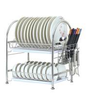 304不锈钢碗架  收纳晾放碗盘用品 厨房置物架  双层沥水碗碟架