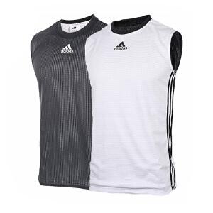 Adidas阿迪达斯男装 2017夏季新款篮球运动训练双面穿背心 BR7903