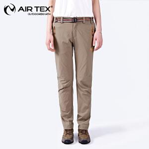 AIRTEX/亚特  快干排汗 纯色弹力速干长裤女款 英国时尚户外