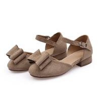 2017春季新款韩版女童小皮鞋女童公主鞋学生鞋小高跟鞋罗马单鞋潮