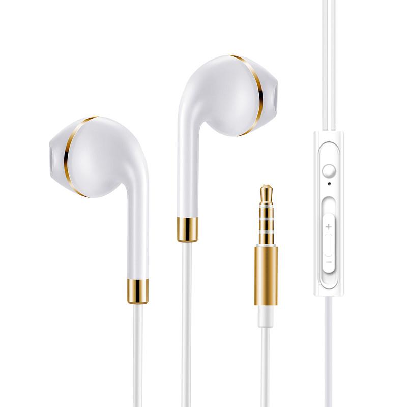 【包邮+可礼品卡支付】LUOBR 洛倍尔 手机耳机 入耳耳机 耳塞式 有线女生耳麦男 金/银色L92_活动可选色金色+银色