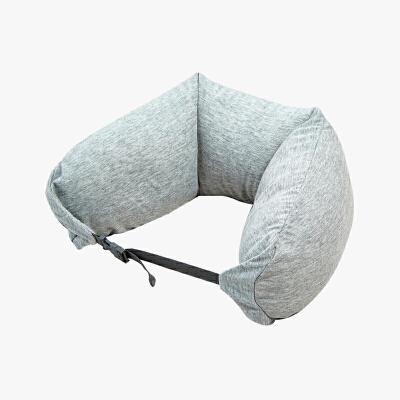 当当优品家纺 纯棉针织U枕 旅行枕午睡颈枕腰枕 浅灰当当自营 MUJI制造商 360°承压 午睡 旅行必备 微粒子填充