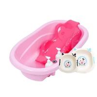 婴儿浴盆 新生儿洗澡盆  幼儿宝宝可坐躺大号厚儿童小孩沐浴盆澡盆
