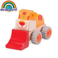 [当当自营]泰国Wonderworld 老虎装载机 仿真木质玩具车