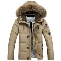 AFS JEEP战地吉普冬季加厚男款大码男士羽绒服男装大毛领外套