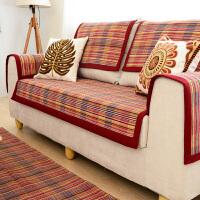 乐唯仕四季布艺沙发垫简约现代棉线编织沙发垫坐垫欧式防滑沙发罩沙发套沙发巾飘窗垫