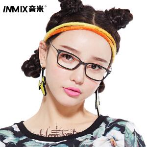 Inmix音米时尚全框成品近视眼镜男 可配近视镜框女 眼睛框镜架潮2322