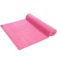 [当当自营]皮尔瑜伽 PVC6mm纯色防滑瑜伽垫玫红色 (附带背包)