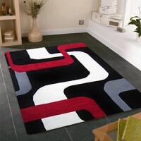 乐唯仕抽象图案手工晴纶地毯 茶几客厅地毯 床边用地毯地毯地垫