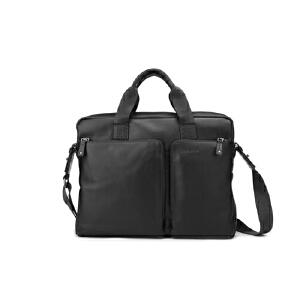 [当当自营]戈尔本 风尚雅士系列牛皮两用包(10-13.25寸) 黑色 1203063601