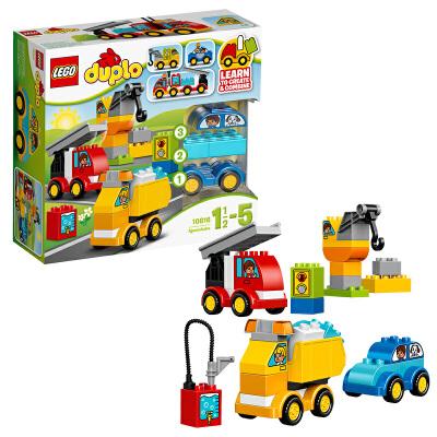 [当当自营]LEGO 乐高 得宝系列 我的第一组汽车与卡车套装 积木拼插儿童益智玩具 10816【当当自营】2016年新品!适合1?-5岁,36pcs小颗粒积木