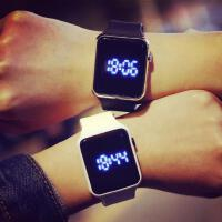 【包邮】韩版简约男女中学生时尚潮流触屏创意方形款led夜光发光电子手表