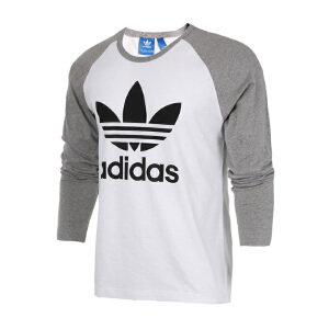 Adidas阿迪达斯 2017新款男子三叶草运动休闲长袖T恤 BK7628