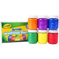 当当自营Crayola 绘儿乐 6色幼儿可水洗颜料 可做手指画 54-1204