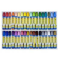 36色油画棒真彩油画棒六角形无毒蜡笔套装真彩2966-36学生文具
