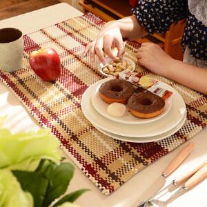 乐唯仕欧式棉线餐垫餐桌垫时尚桌面键盘垫笔记本碗垫锅垫隔热垫花瓶垫多用垫多色可选可定做