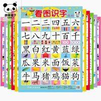 儿童书籍0-3-6岁早教书籍宝宝书籍0-3岁早教挂图无声婴儿启蒙认知 熊猫量子认知挂图 看图识字拼音卡片全套早教墙贴 双面十张20个使用面