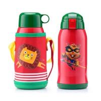 卡通儿童保温杯  带吸管宝宝水壶  便携可爱学生瓶子 不锈钢水杯子
