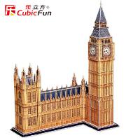 乐立方3D立体拼图仿真建筑模型伦敦大本钟纸模型DIY手工模型MC087