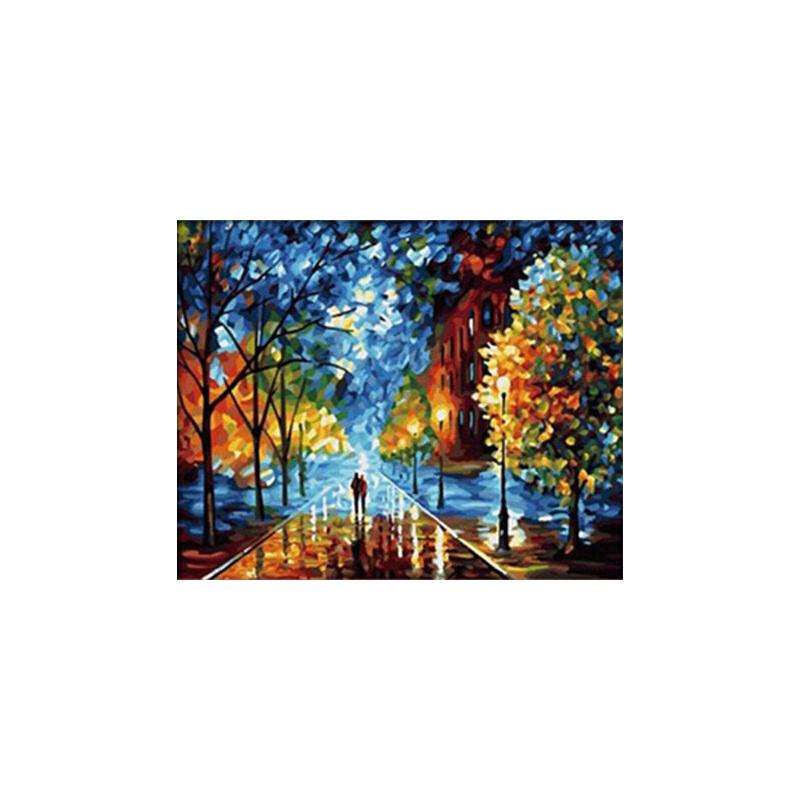 创意手绘画 数字油画抽象风景手绘数码 油画人物客厅