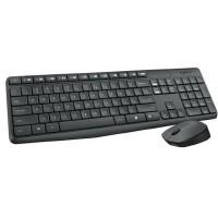 【包邮】罗技MK235无线键盘/鼠标套装/静音防泼省电/电脑游戏薄款无线键鼠