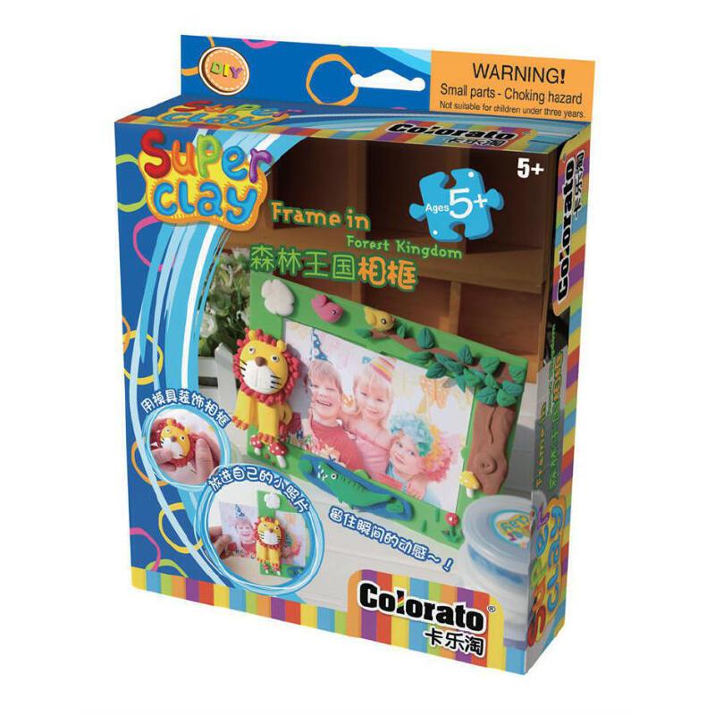 卡乐淘轻粘土创意彩泥橡皮泥儿童玩具魔法奇缘相框c-spc652森林王国