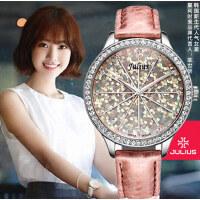 聚利时闪耀满天星韩国潮流时尚 学生 镶钻 石英真皮表带 女士手表JA-791