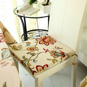 乐唯仕2条装椅垫坐垫布艺夏凉学生椅子垫纯棉沙发办公室电脑厚新
