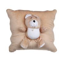 折叠车载头枕护腰垫卷毯家用靠垫抱枕毛绒可爱卡通小熊两用靠垫毛毯
