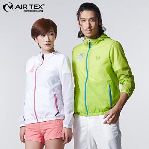 AIRTEX/亚特 抗皱耐磨 亮银字母皮肤衣情侣男款 英国时尚户外