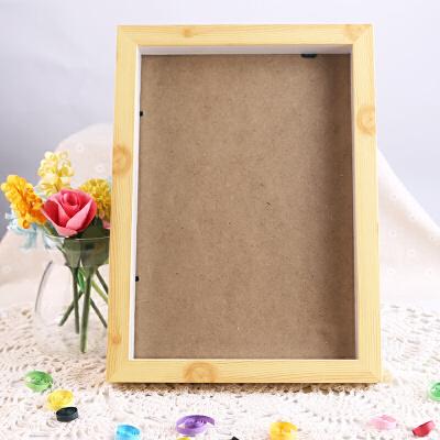 摆台相框a4亚克力相框塑料画框胶相框支架画框奖状证书 a4原木色木质