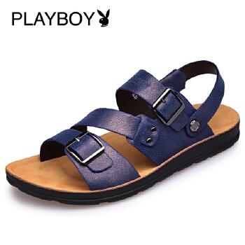 花花公子夏季新款男凉鞋韩版潮皮凉鞋男士沙滩鞋户外休闲鞋凉拖鞋F002168121
