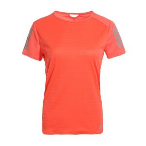AAdidas阿迪达斯 2017夏季新款女子运动休闲短袖T恤 BP7460