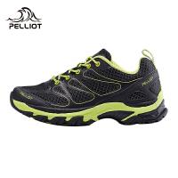 法国PELLIOT户外越野跑鞋 男女登山鞋轻便透气徒步鞋休闲运动鞋