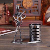 铁艺乐队笔筒 办公室桌面摆件 创意实用学生礼物 金属工艺品