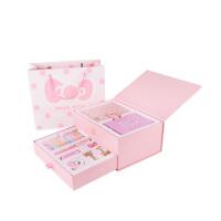 当当自营 广博(GuangBo)手帐14件文具礼盒套装(皮面手账本子/钢笔/和纸胶带)凯蒂猫粉红DTB6507