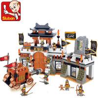 小鲁班儿童玩具积木塑料拼插玩具拼装 三国军事 鏖战长沙0266