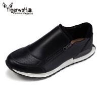 Tigerwolf虎狼公社 潮流运动板鞋男 英伦低帮男鞋 头层牛皮休闲鞋