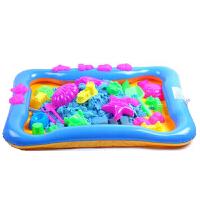 【当当自营】炫梦奇手工太空沙玩具火星彩沙 儿童DIY沙滩玩具 儿童模型玩具 4斤装+两套模具 蓝色