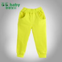 歌歌宝贝 春秋新款宝宝裤装 婴儿外穿卫衣 宝宝卫衣单裤KZ1501