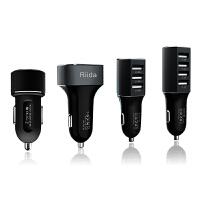 Riida车充头一拖二三四USB口汽车点烟器苹果6s智能手机车载充电器
