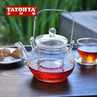 TAYOHYA 多样屋 模纹圆型花茶壶  高硼硅耐热玻璃茶壶
