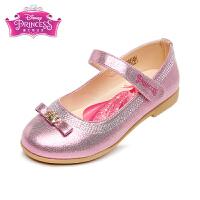 迪士尼Disney童鞋闪亮水钻单鞋时装鞋女孩公主鞋女童学生返校鞋舞蹈鞋 桃红(5-10岁可选) DF0144