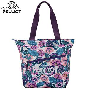 【618返场大促】法国PELLIOT户外单肩背包女 多功能户外包时尚印花 休闲旅行手提包