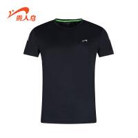 贵人鸟男装T恤 新款运动服跑步训练轻质男针织圆领短袖衫
